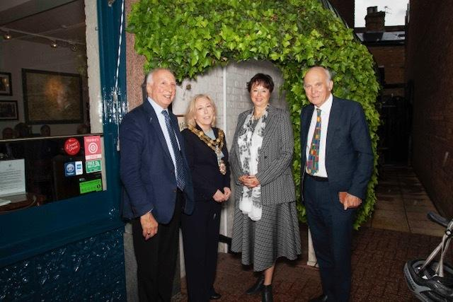 Photo Copyright PFT Photography- LtoR Cllr Acton, Mayor Cllr Baldwin. Chamber CEO Anne Newton and MP Sir Vince Cable