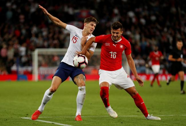 Albian Ajeti in action for Switzerland against England. Picture: Action Images