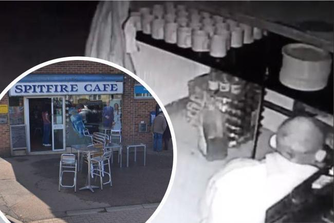 Screengrab from CCTV footage - Spitfire Café