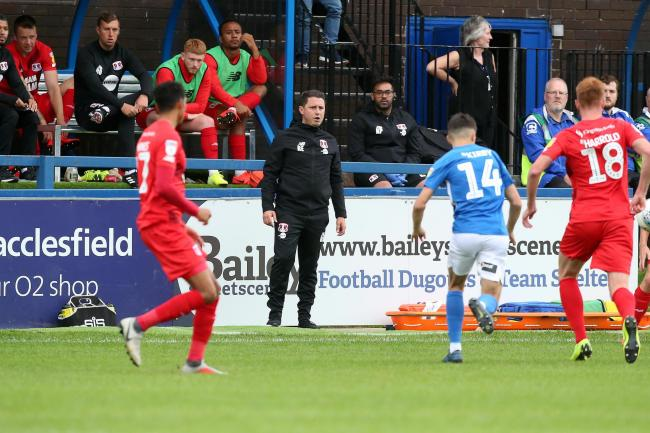Ross Embleton watches on during Leyton Orient's game against Macclesfield Town. Picture: Simon O'Connor