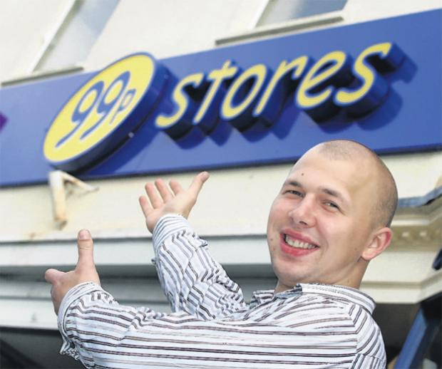 This Is Local London: Dariusz Koczan, manager of the 99p Store in Lymington