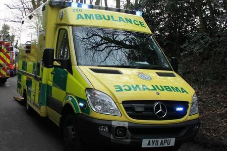 Ambulance crews attended the scene.