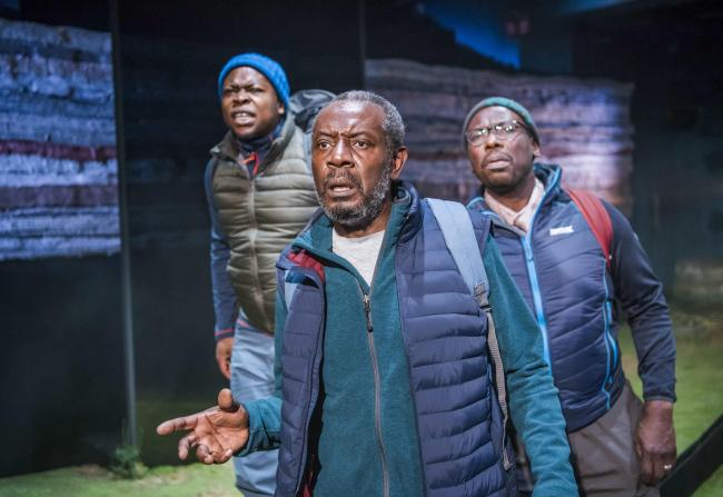 A scene from Black Men Walking by Testament @ Royal Exchange Manchester. Directed by Dawn Walton. (Opening 18-01-18) ©Tristram Kenton 01-18 (3 Raveley Street, LONDON NW5 2HX TEL 0207 267 5550  Mob 07973 617 355)email: tristram@tristramkenton.com