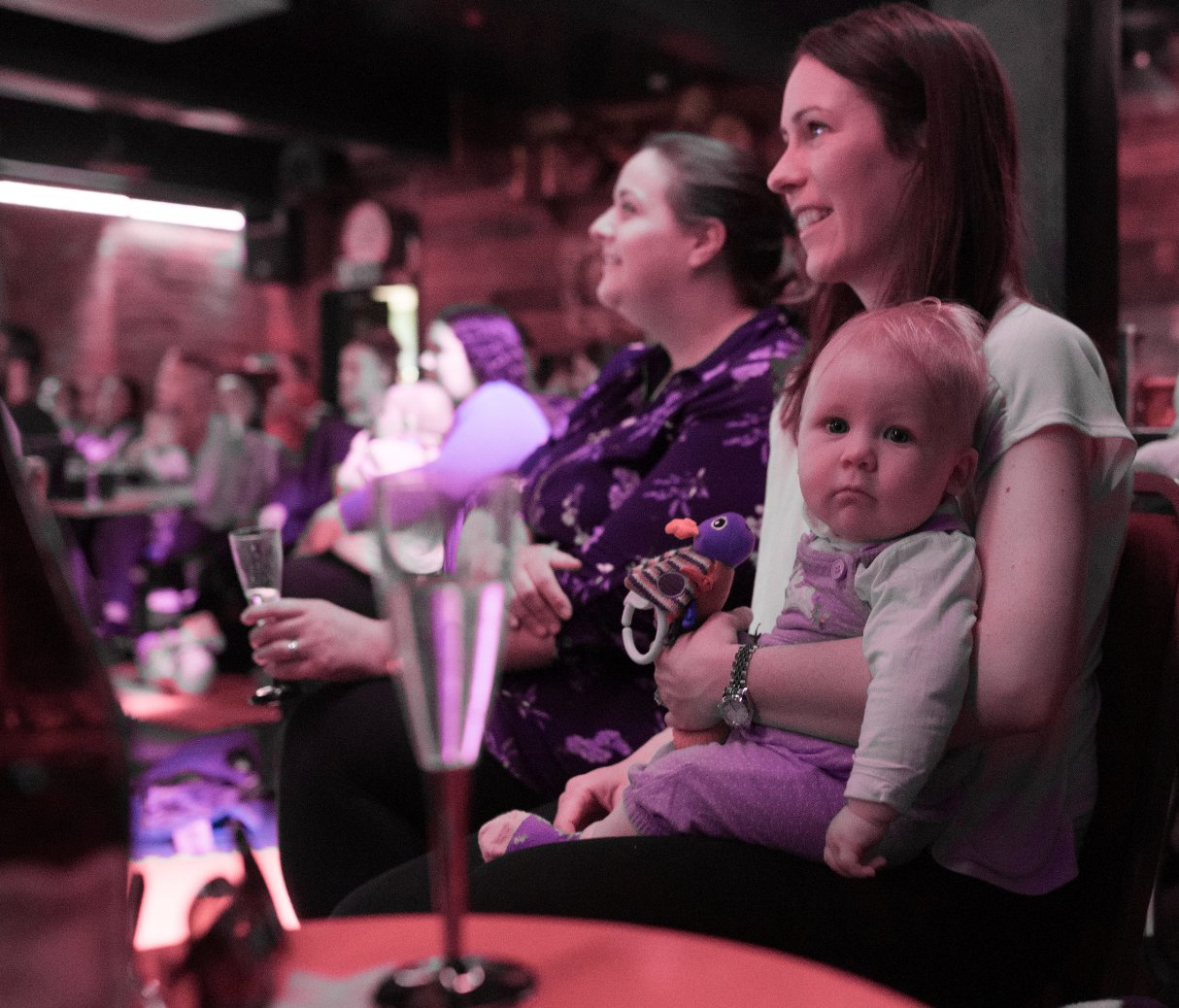 Forget the sitter, take baby along to Hayes show