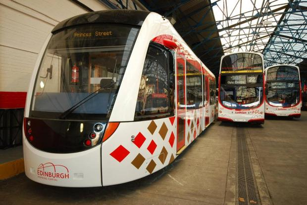 Scottish trams diverted to Croydon