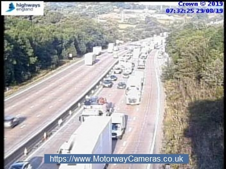 Morning update: Accident causes delays on M25