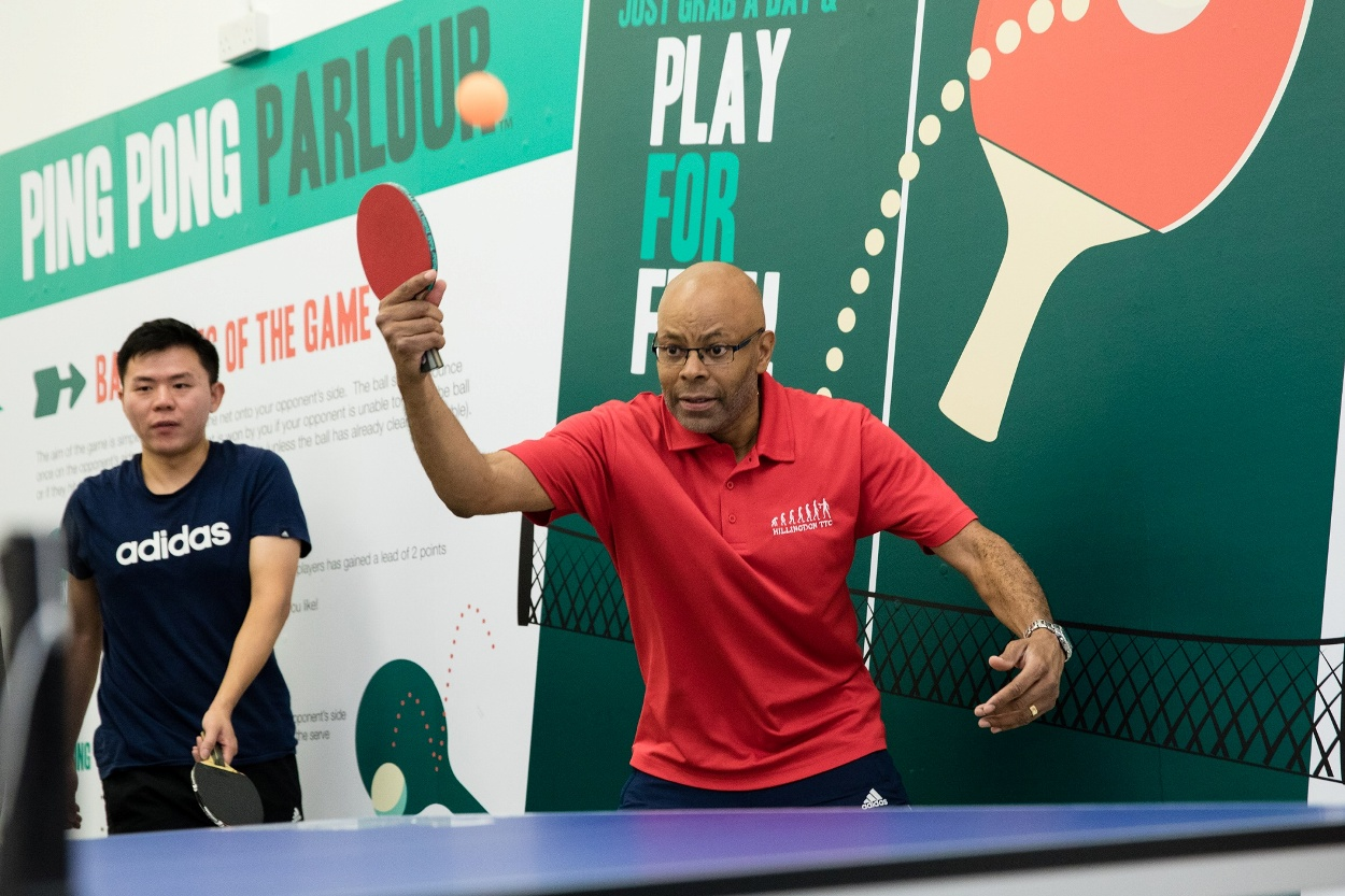 Hillingdon club players welcomed to Ping Pong Parlour