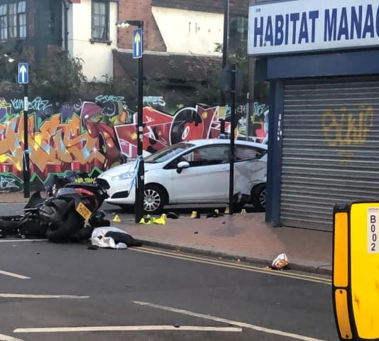 Man taken to hospital with serious injuries after fleeing South Norwood crash