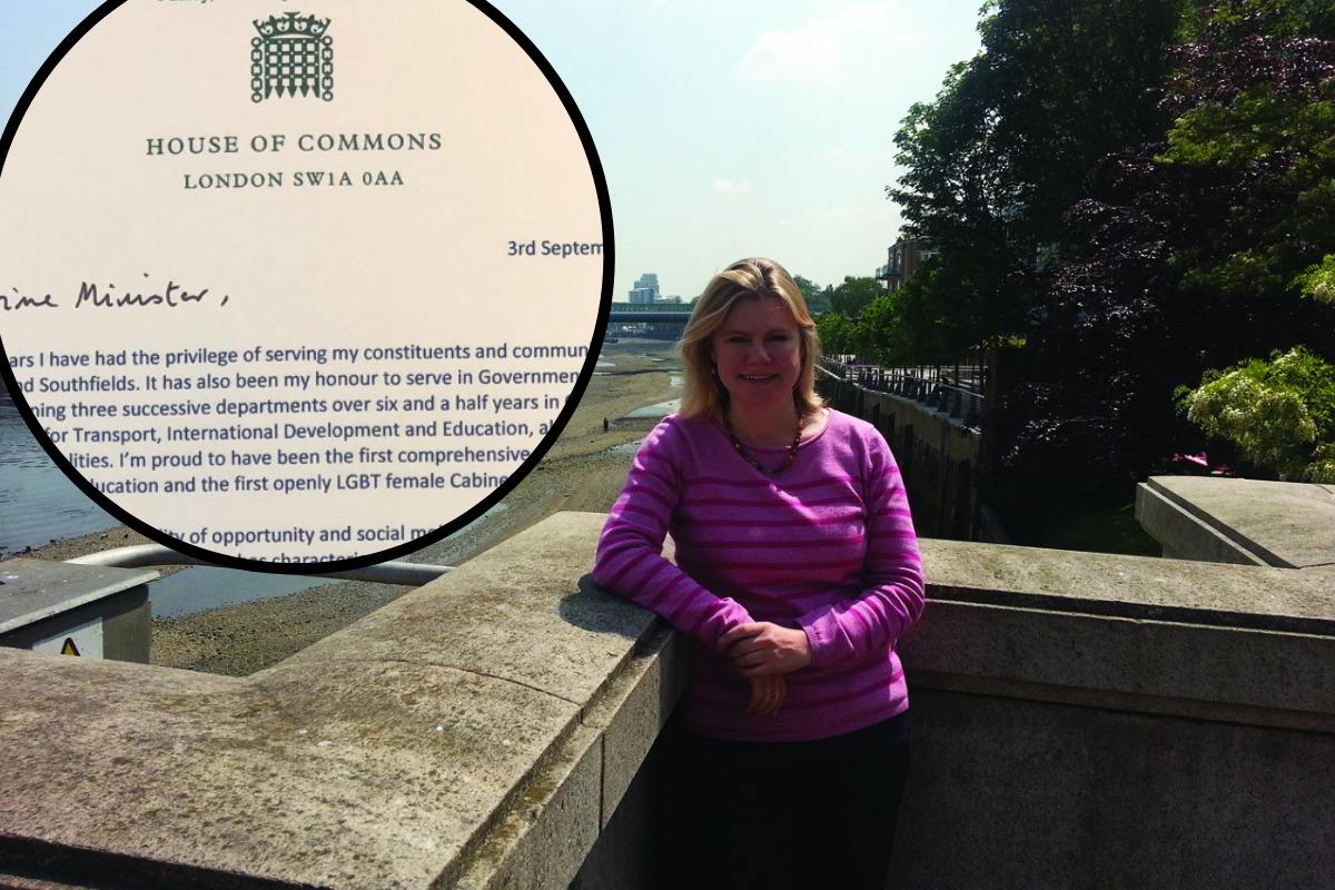 Justine Greening pens 459-word resignation letter to Boris Johnson