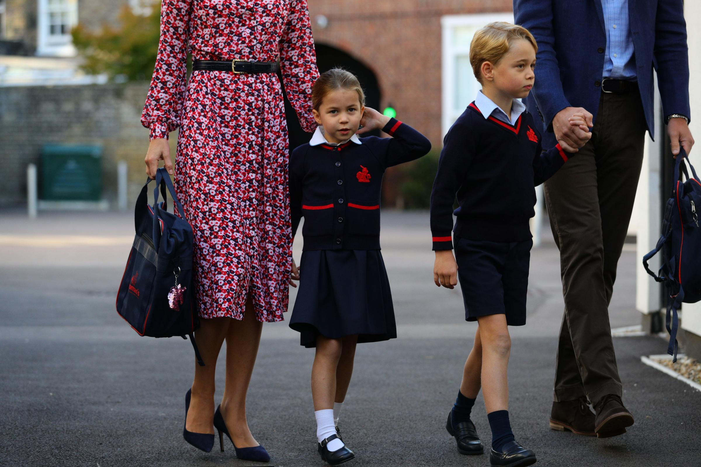 PICTURES: Princess Charlotte begins first day of school in Battersea