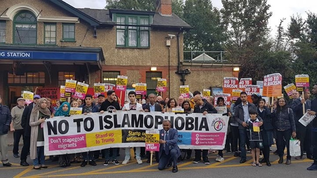 Vigil outside North Ealing station after racist attack