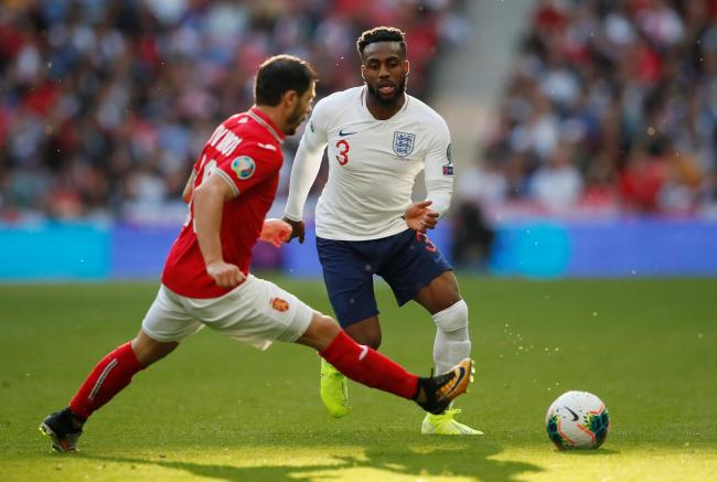 Danny Rose in action against Bulgaria on Saturday. Picture: Action Images