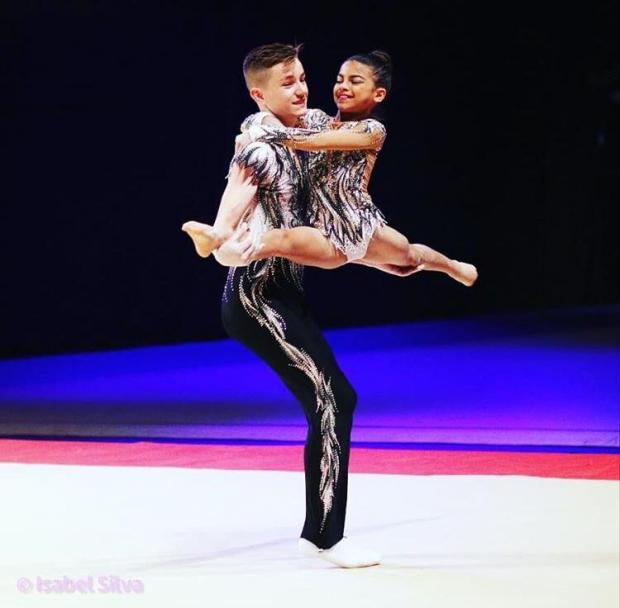 This Is Local London: 14-year-old Henry Godfrey and his partner 11-year-old Keira Follett both compete in acrobatic gymnastics which is a non-funded sport.