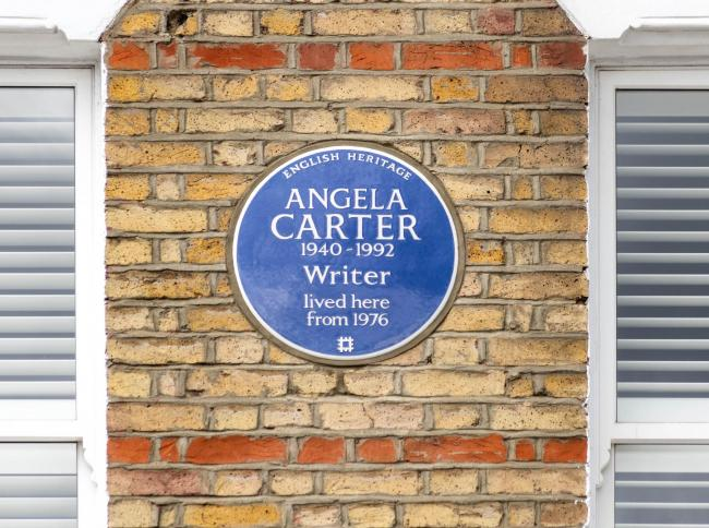 Blue Plaque for writer Angela Carter at her former home in Clapham
