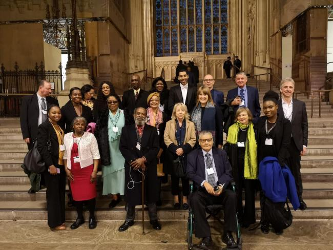 MP Sarah Jones with people from Croydon affected by the Windrush scandal