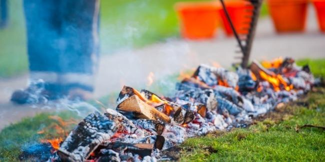 The Autumn Firewalk has been organised by St Clare Hospice in Hastingwood