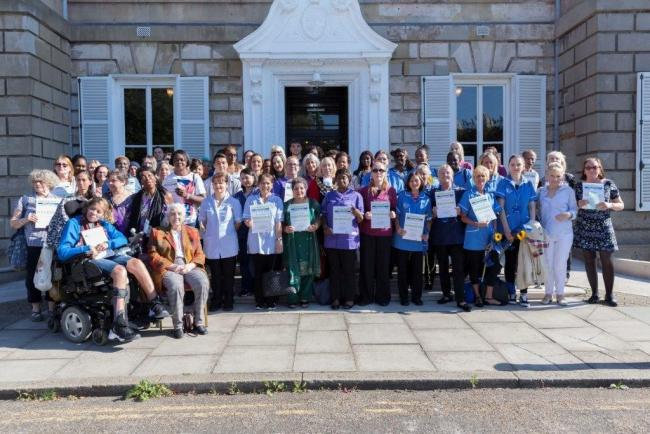 Four care workers and personal assistants were recognised