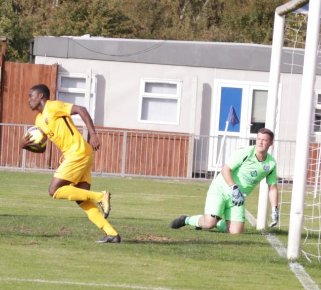 Richard Ennin netted the only goal for Enfield Borough against Enfield FC.