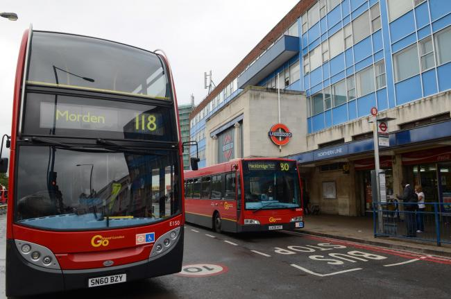 Bus-stand outside Morden station to close on Car Free Day