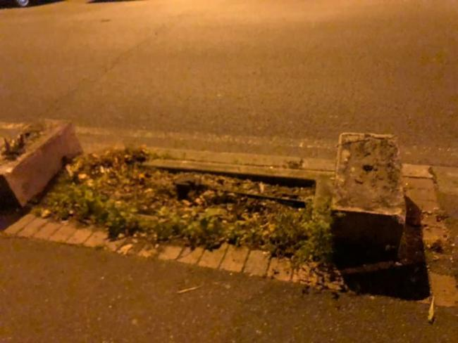 The Penge trough appears to have been uprooted and taken. Photo: Millie Knights