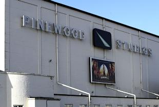 A studio at Pinewood was damaged by fire last night