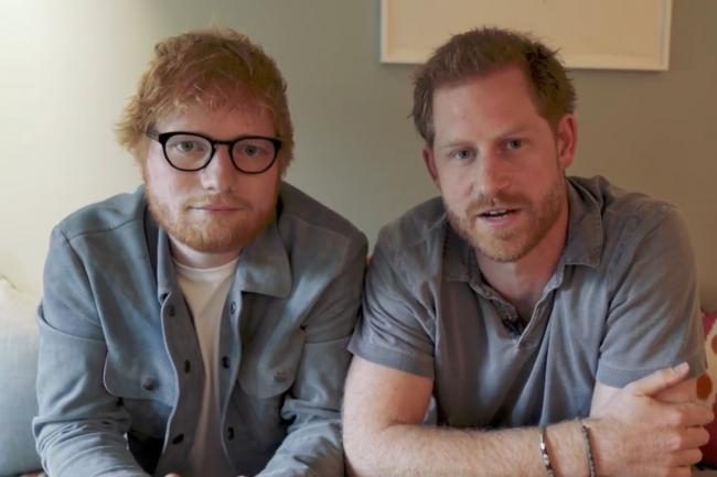Ed Sheeran with the Duke of Sussex