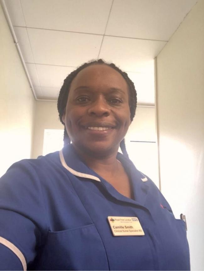 Camille Smith is a clinical nurse specialist at Barnet Hospital