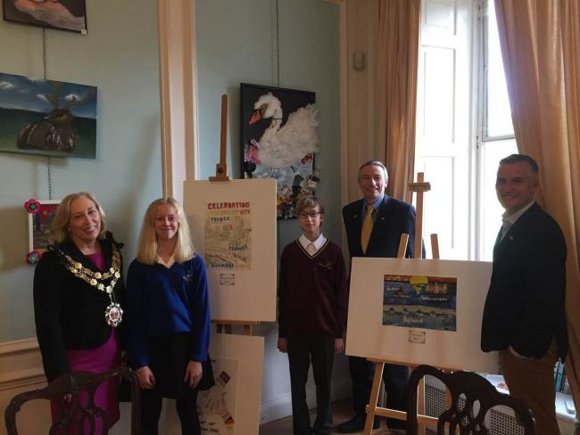 Eleven-year-old Selim Bener from Orleans Park School in Twickenham won the competition after creating a poster that had been inspired by Richmond Bridge.