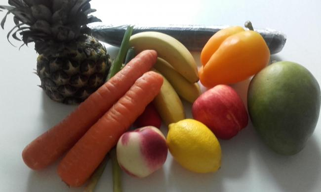 Fruit and vegetables play and important part in a vegetarian diet.  Photograph: Esther O'Neill