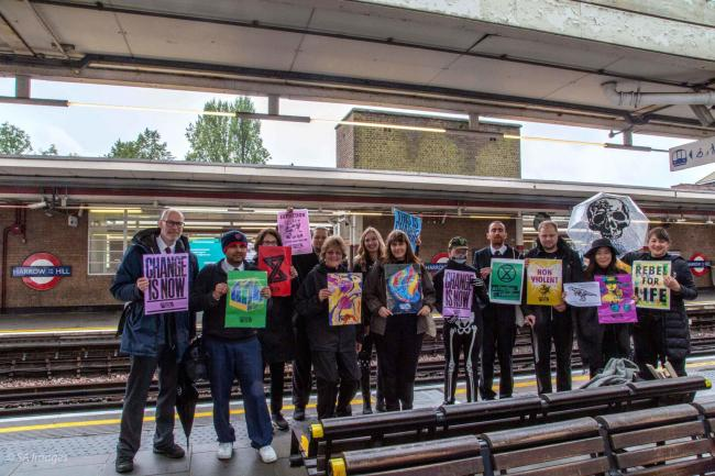 Members of the Harrow branch of Extinction Rebellion travelled into central London to protest last month