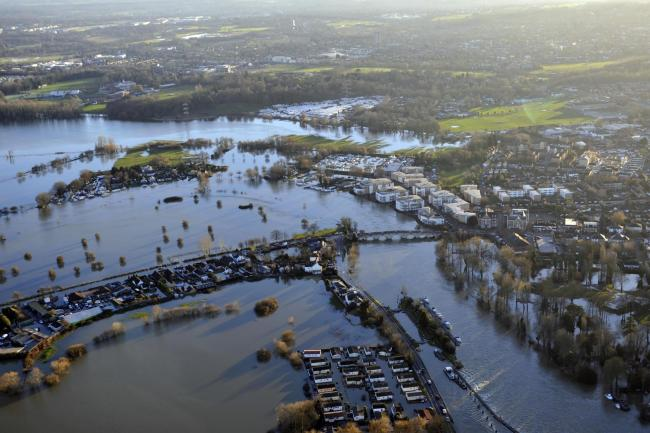 Flooding in Chertsey, 2014. Image: Surrey CC