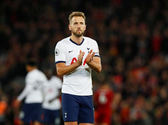 Tottenham Hotspur captain Harry Kane applauds the fans after their defeat to Liverpool. Picture: Action Images