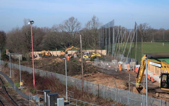 Track record: tree clearance is underway at West Ruislip on the HS2 route