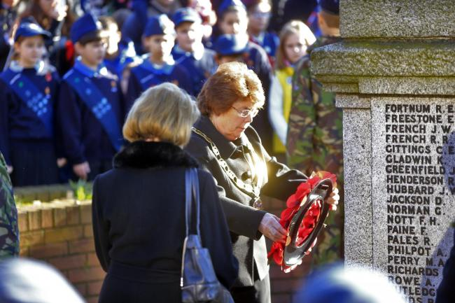 There will be a two-minute silence on Remembrance Sunday (November 10). Photo: Peter Beal