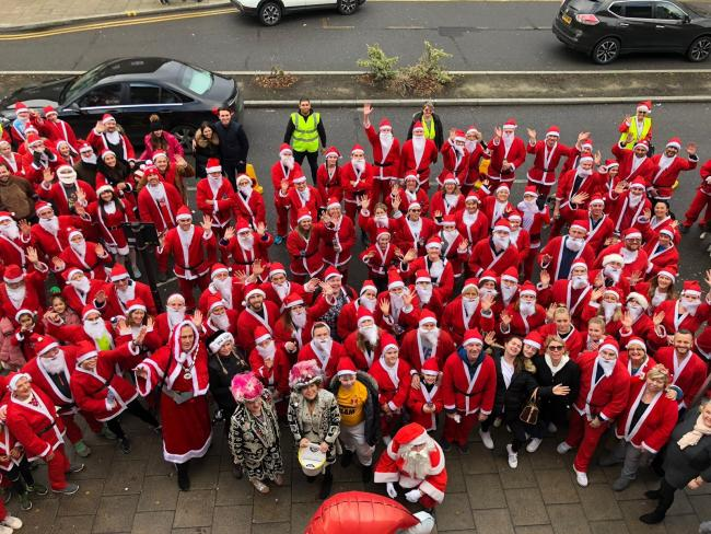 Around 200 people took part in the Santa 5K fun-run in Debden for St Clare Hospice last year