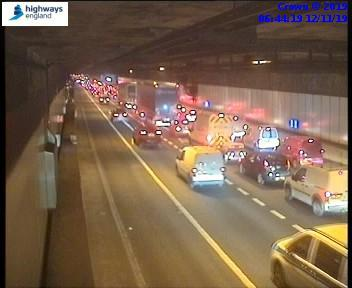 Morning update: Overrun roadworks causes traffic on M25