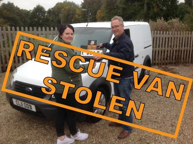 The van has been stolen from a road in Brockley. Photo: Celia Hammond Animal Trust on Facebook