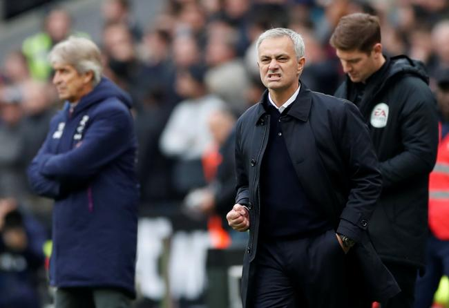 Contrasting emotions: Jose Mourinho and Manuel Pellegrini. Picture: Action Images