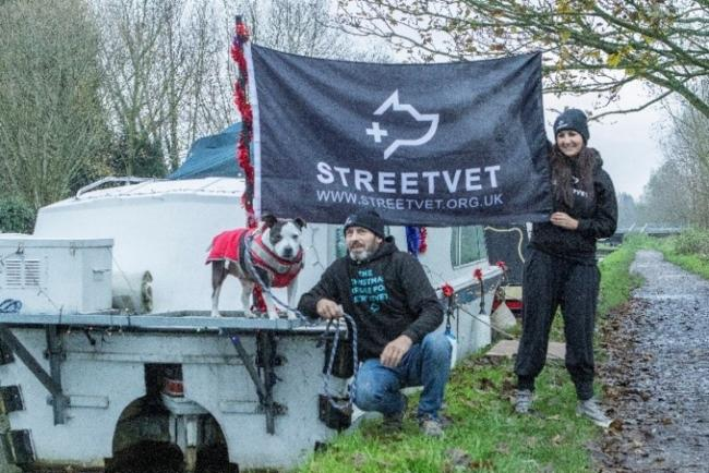 Setting sail: Phil and Lucky will be mooring in Hillingdon on their voyage