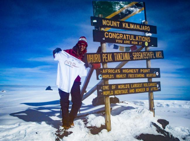Sal Bolton took on the expedition to raise awareness of M.E