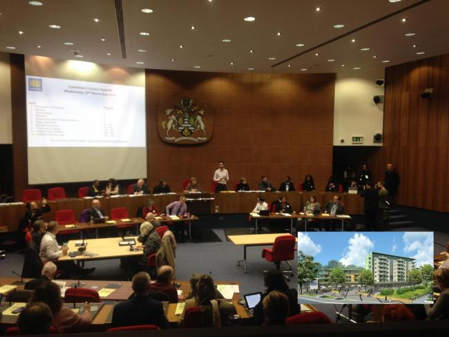 A resident asked the mayor at full council why no legal action had been taken