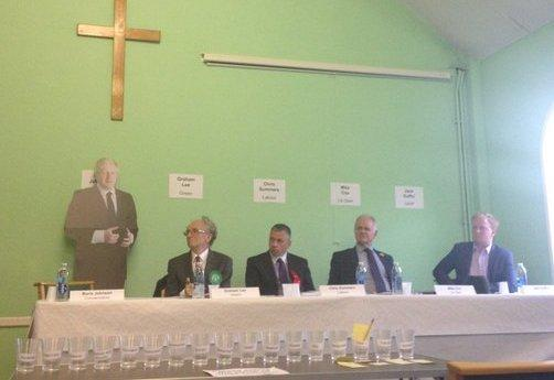 This Is Local London: Mr Johnson was replaced by a cardboard cut out at the same hustings event in 2015