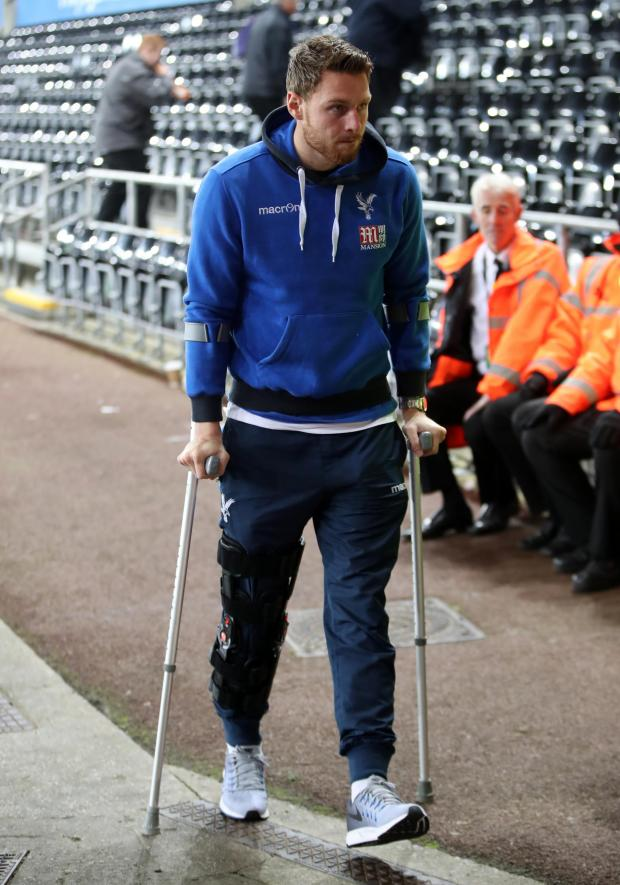 This Is Local London: (Wickham recovering from cruciate ligament surgery in 2106)