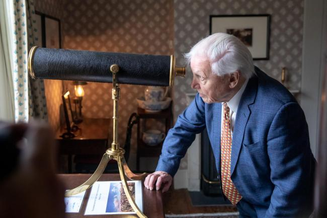 Sir David Attenborough at Turner's House, Twickenham, turnershouse.org, 10.1.2020Anna Kunst Photography © Turner's House Trust.