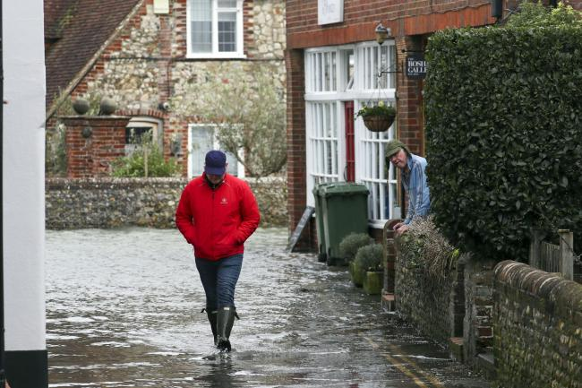 Flooding in Bosham, West Sussex
