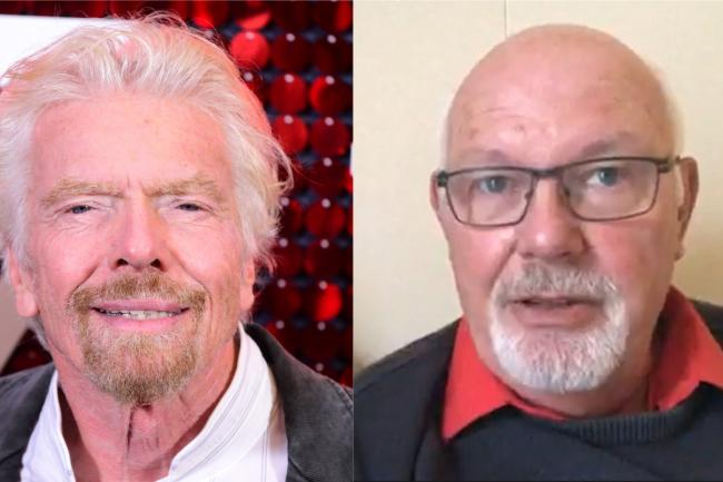 Richard Branson (left) and David Abel