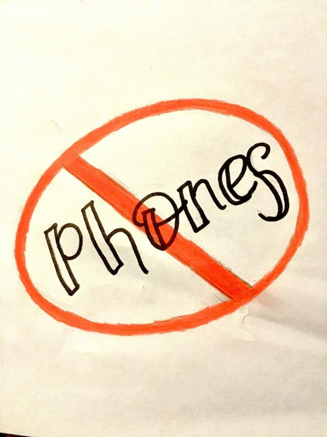 A protest against phones