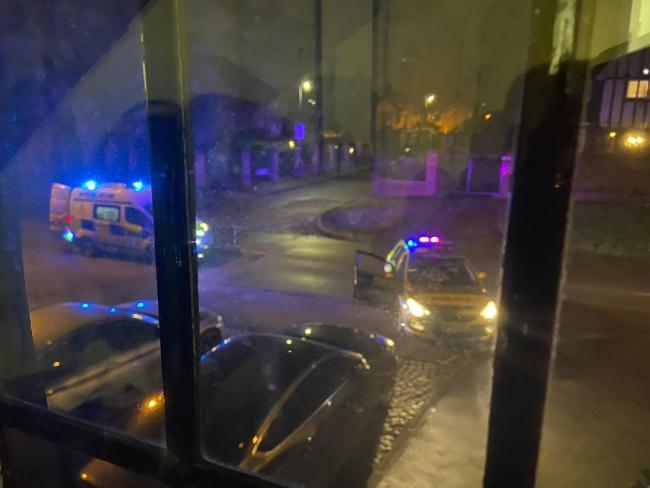 Police arrived on the scene quickly (Photo: Cllr Ameet Jogia)