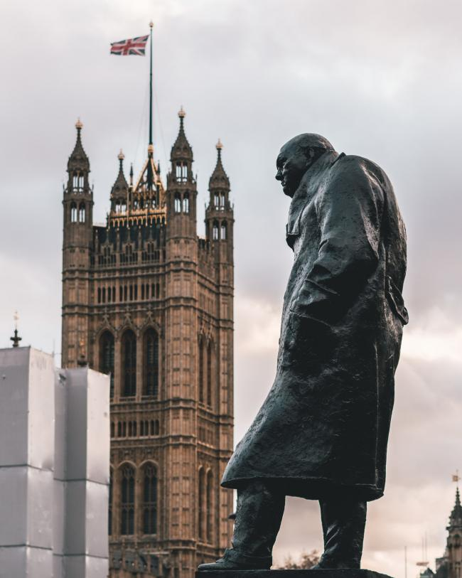 The statue of Churchill in Parliament Square was among those defaced in protests this summer.