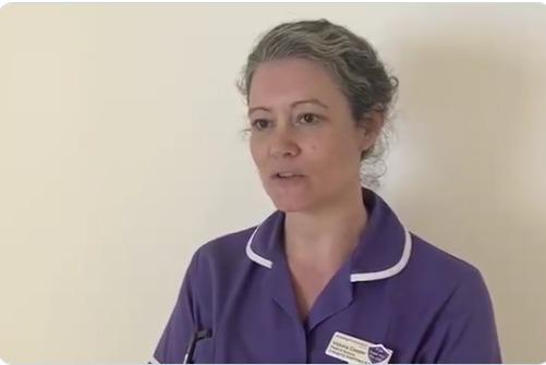 Tori Cooper, Head of Nursing for the Emergency Department at St George\'s. Credit - Screenshot, St George\'s @StGeorgesTrust